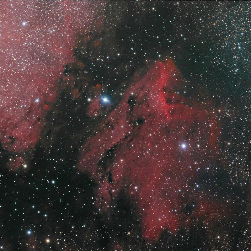 La nebulosa IC 5070 o como se la conoce popularmente la nebulosa del Pelícano es una nebulosa de emisión