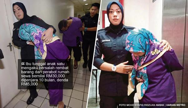 Rembat barang dan perabot rumah sewa bernilai RM30K, penyewa dipenjara 10 bulan