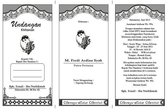 Download Undangan Gratis | Desain Undangan Pernikahan & Khitan | Tutorial Desain Grafis: Free ...