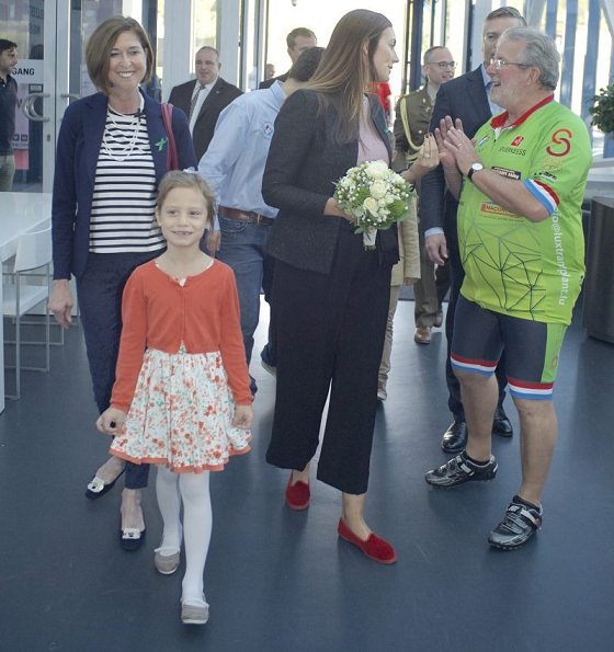 Princess Claire of Luxembourg attend a event for World Day of Organ Donation and Transplantation at Luxexpo The Box