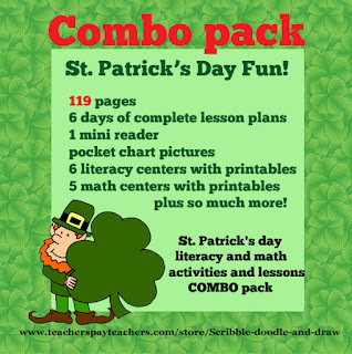 St. Patrick's day lesson plan and literacy and math activities