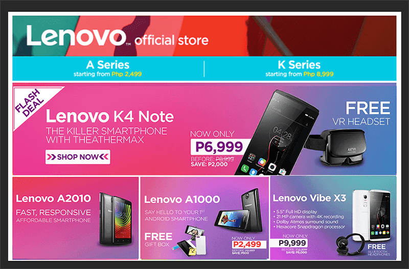 Lenovo Vibe X3, K4 Note, And A1000 To Go On Flash Sale This Weekend