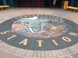 Conservation Station Disney's Animal Kingdom Ground Mural