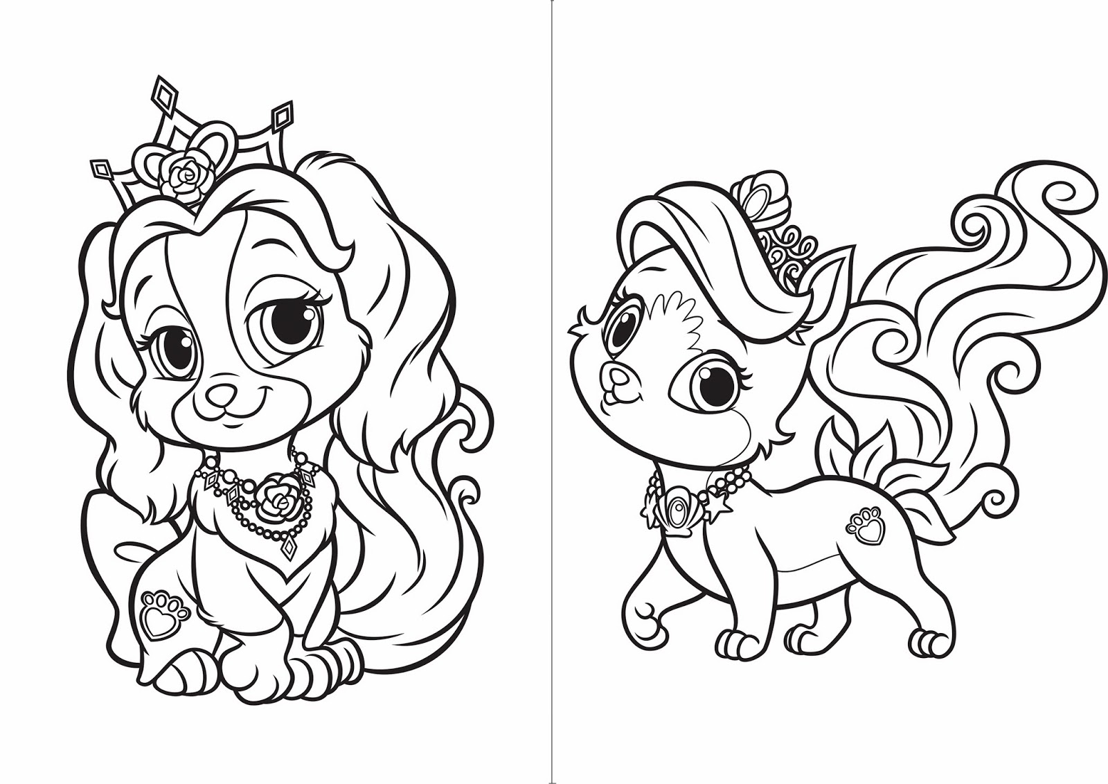 Disney Princess Coloring Pages Doll Palace Coloring Page