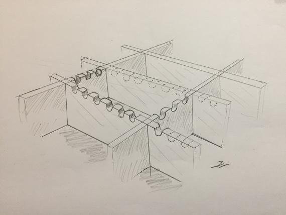 dibujo de propuesta para hacer rejilla antideslizante