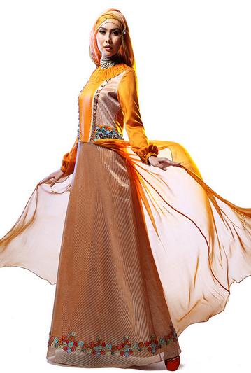 Contoh Model Busana Muslim Wanita Elegan dan Mewah 2018