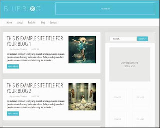 Blue Blog premium blogger template