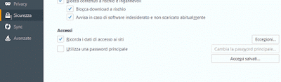 Come cancellare le password salvate su firefox