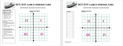 A Middle School Survival Guide: Coordinate Graphing Games