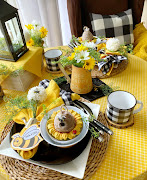 Bee Themed Table for Two