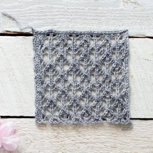 How To Make An Easy Lace Knit Shawl - Free Pattern