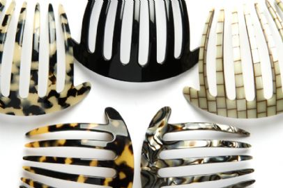 French Pleat Comb by Stone Bridge, Luxury Hair Accessories