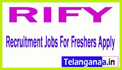 RIFY Recruitment Jobs For Freshers Apply