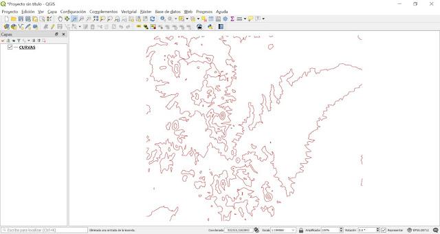 Como reducir vértices en curvas de nivel con QGIS