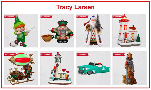 CLICK TO SEE TRACY LARSEN'S ORNAMENTS FOR 2018 ON HALLMARK.COM
