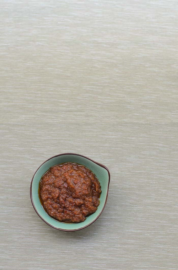 Hot and spicy Malaysian sambal