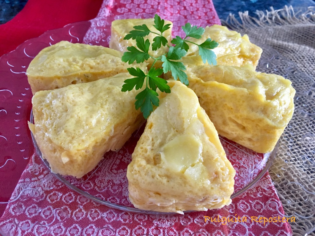 Pulguita repostera bocaditos de tortilla de patata - Tortilla en el microondas ...