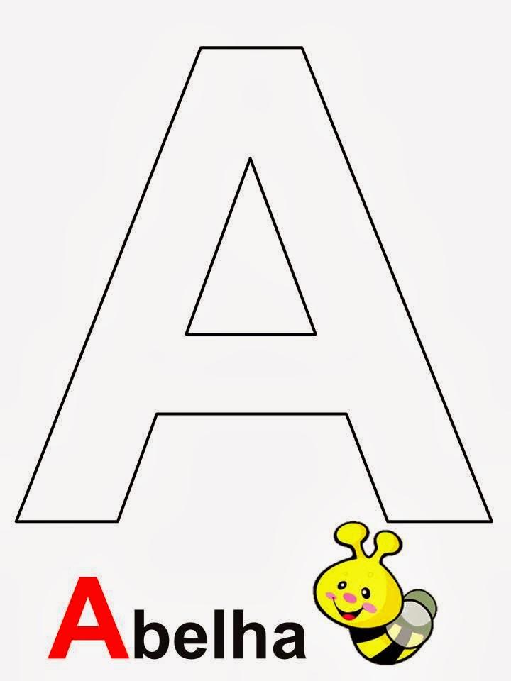 Alfabeto letra A Abelha
