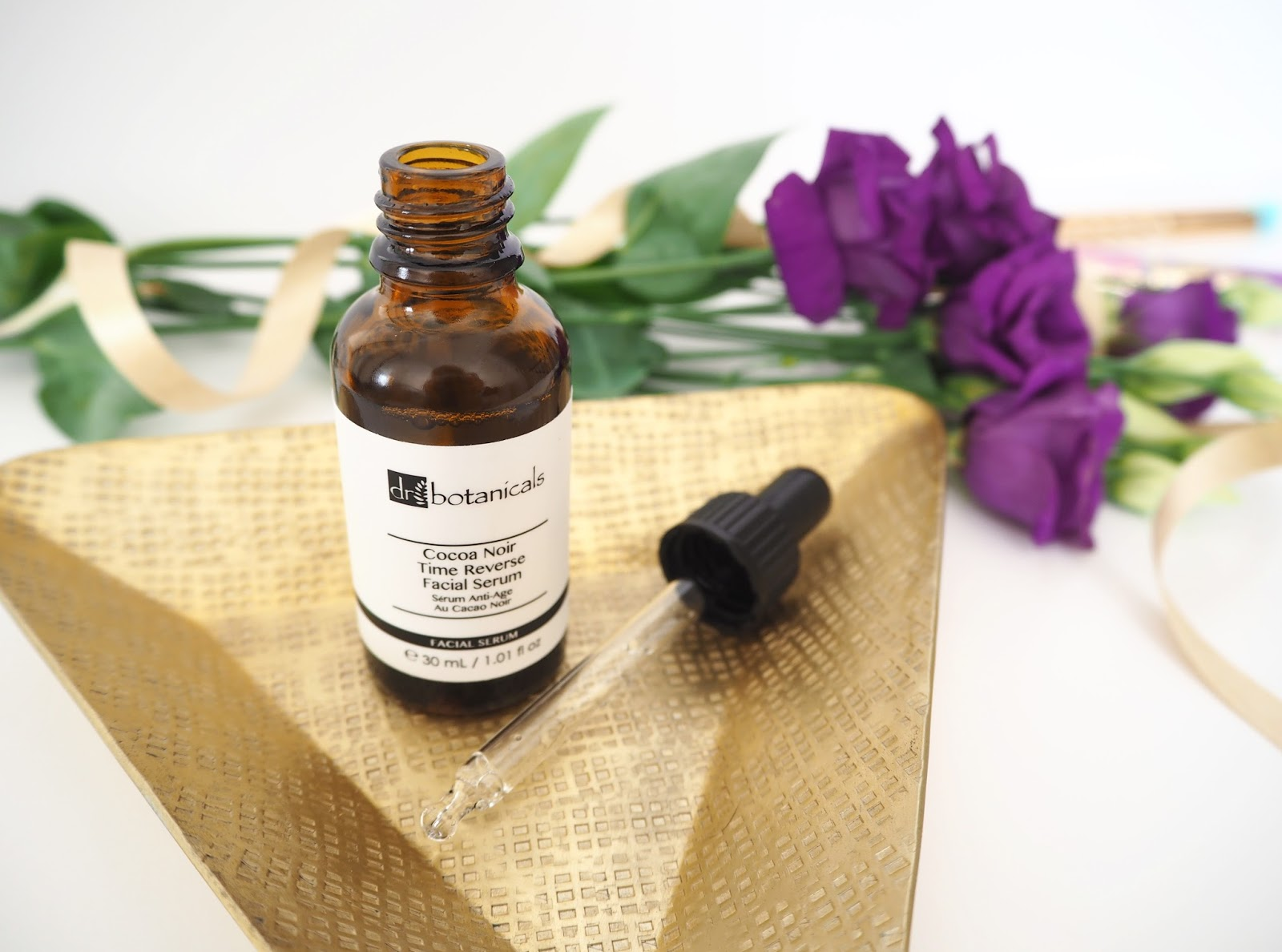 Dr Botanicals Cocoa Noir Time Reverse Facial Serum, Katie Kirk Loves, Beauty Blogger, Dr Botanicals Skincare, UK Blogger, Skincare Review, Discount Code, Beauty Sleep, Facial Serum, Facial Treatment, Skincare Routine, Luxury Skincare Products