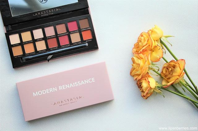 Anastasia Beverly Hills Modern Renaissance eyeshadow palette review