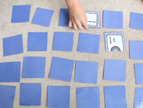 contractions memory game