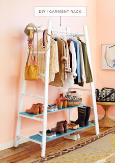 Make A Garment Rack From A Ladder