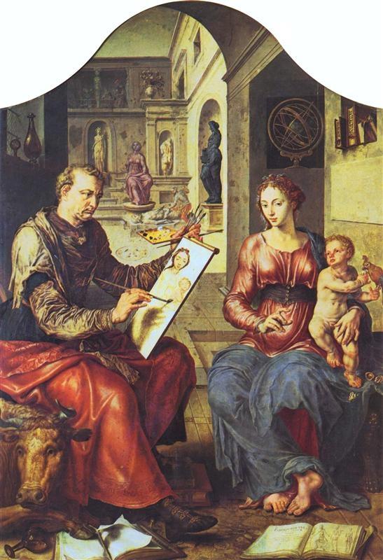 Maarten van Heemskerck - Св. Лука рисующий Богоматерь