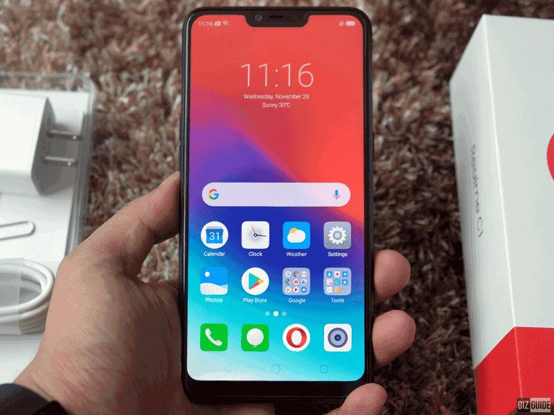 Realme C1's 6.2-inch display