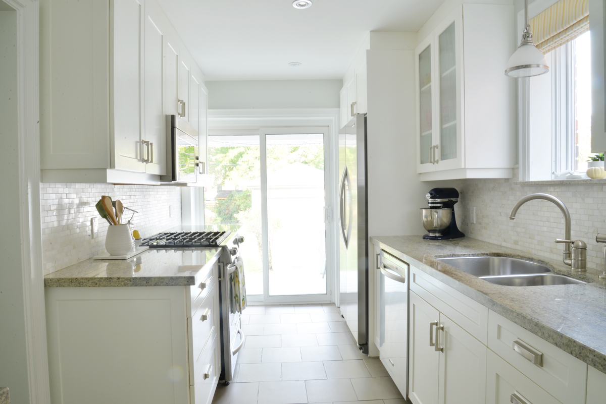 before and after home renovations, home remodel ideas, kitchen renovation, galley kitchen remodel, small kitchen renovation