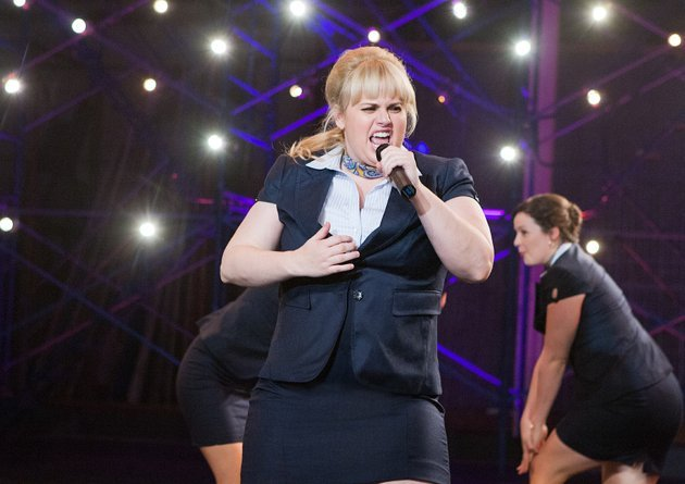 Fat Amy from The Bellas doing her thing on stage