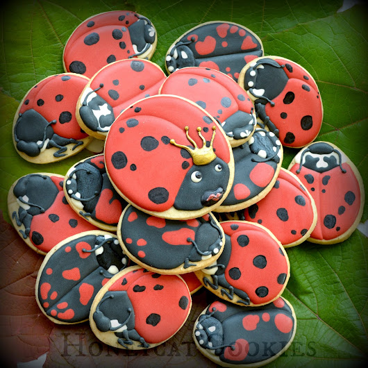 Ladybird Ladybug, a Cookie Tutorial and Video!