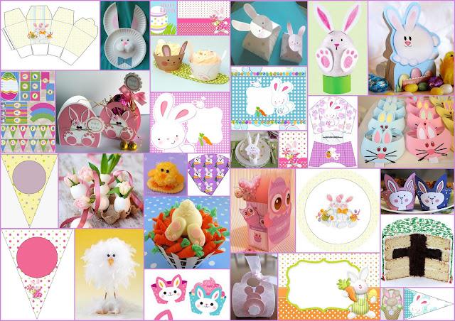 Imprimibles Gratis e ideas para Pascua.