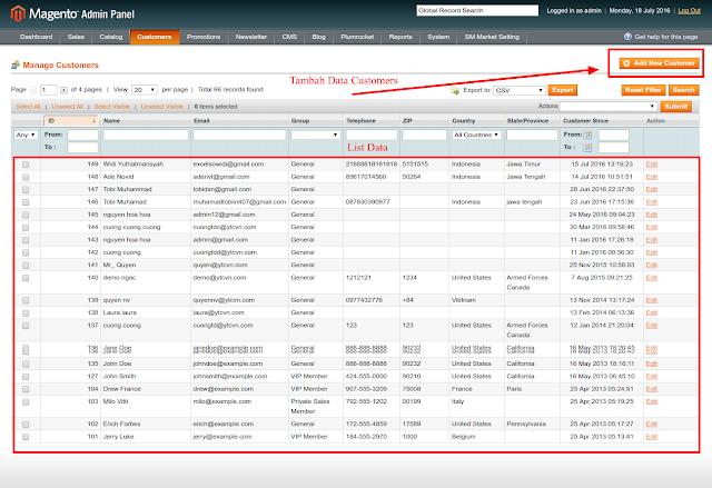 Tutorial Magento - Belajar CRUD Module Customers Di Toko Online Magento, Belajar Membuat Toko Online Magento