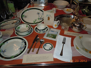 railroad dining car china and silverware