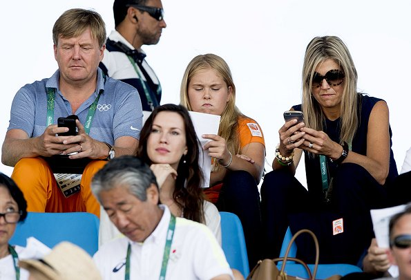 King Willem-Alexander, Queen Maxima, Princess Amalia, Princess Alexia, Princess Ariane watched Equestrian's Show Jumping of Netherlands' Jeroen Dubbeldam