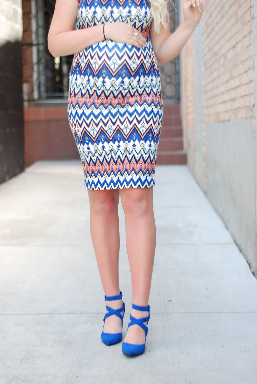 Cents of Style, Cobalt Heels, Pregnant Outfit