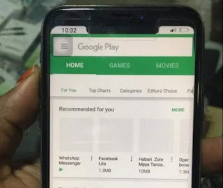 IPhone X With Google Play Store