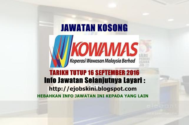 Jawatan Kosong Koperasi Wawasan Malaysia Berhad (KOWAMAS)