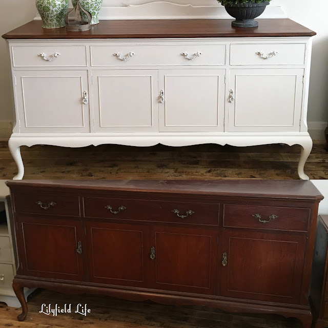 French Provincial hand painted sideboard by Lilyfield life