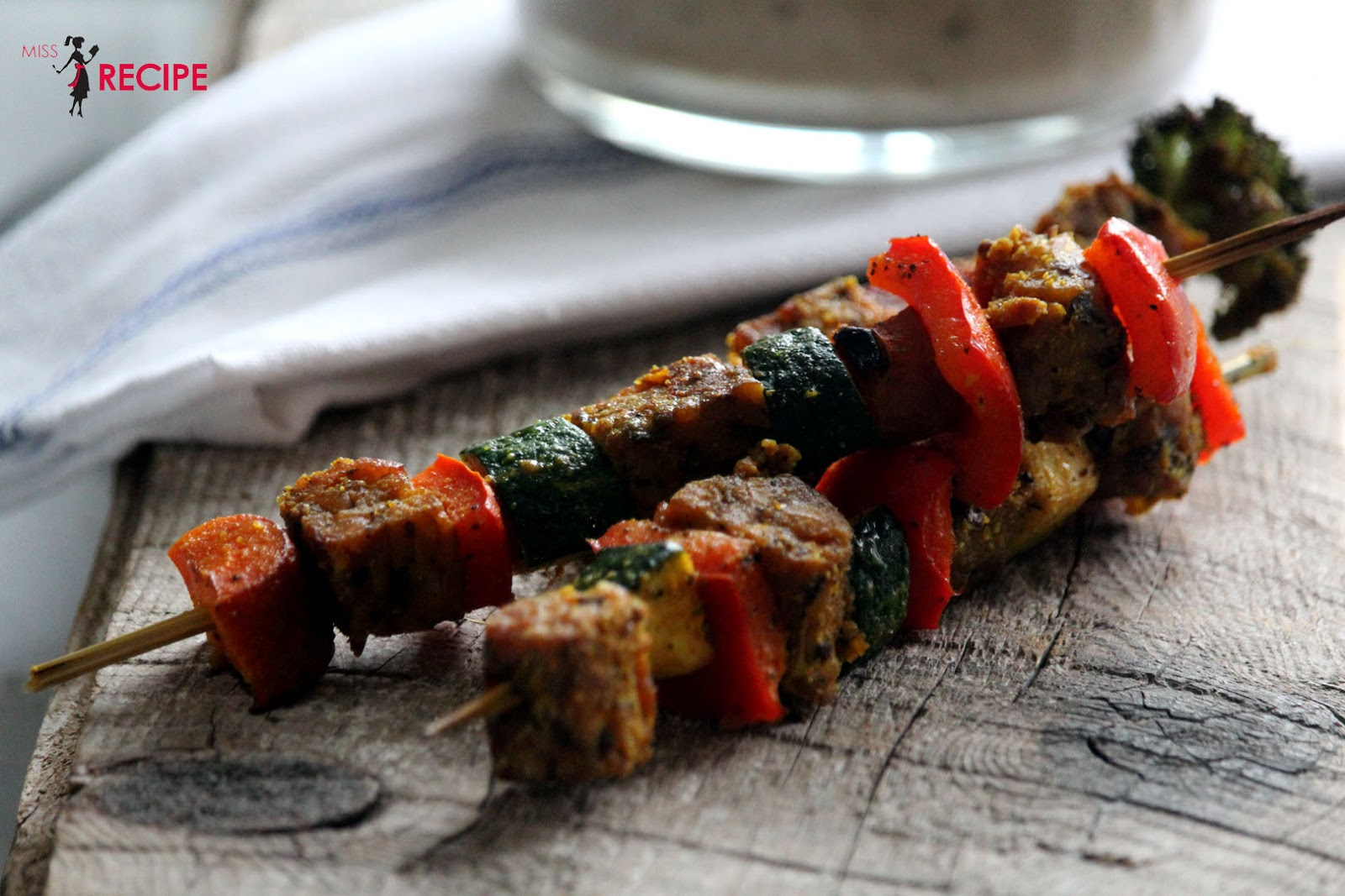 Brochettes de légumes au barbecue Aux Fourneaux
