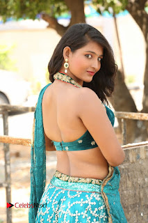 Actress Teja Reddy  Pictures in Blue Saree  0034