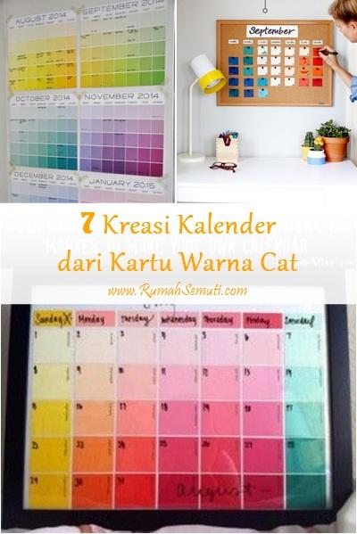 7 Kreasi Kalender dari Kartu Warna Cat