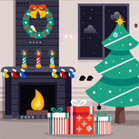 GenieFunGames Christmas Fireplace Quick Escape