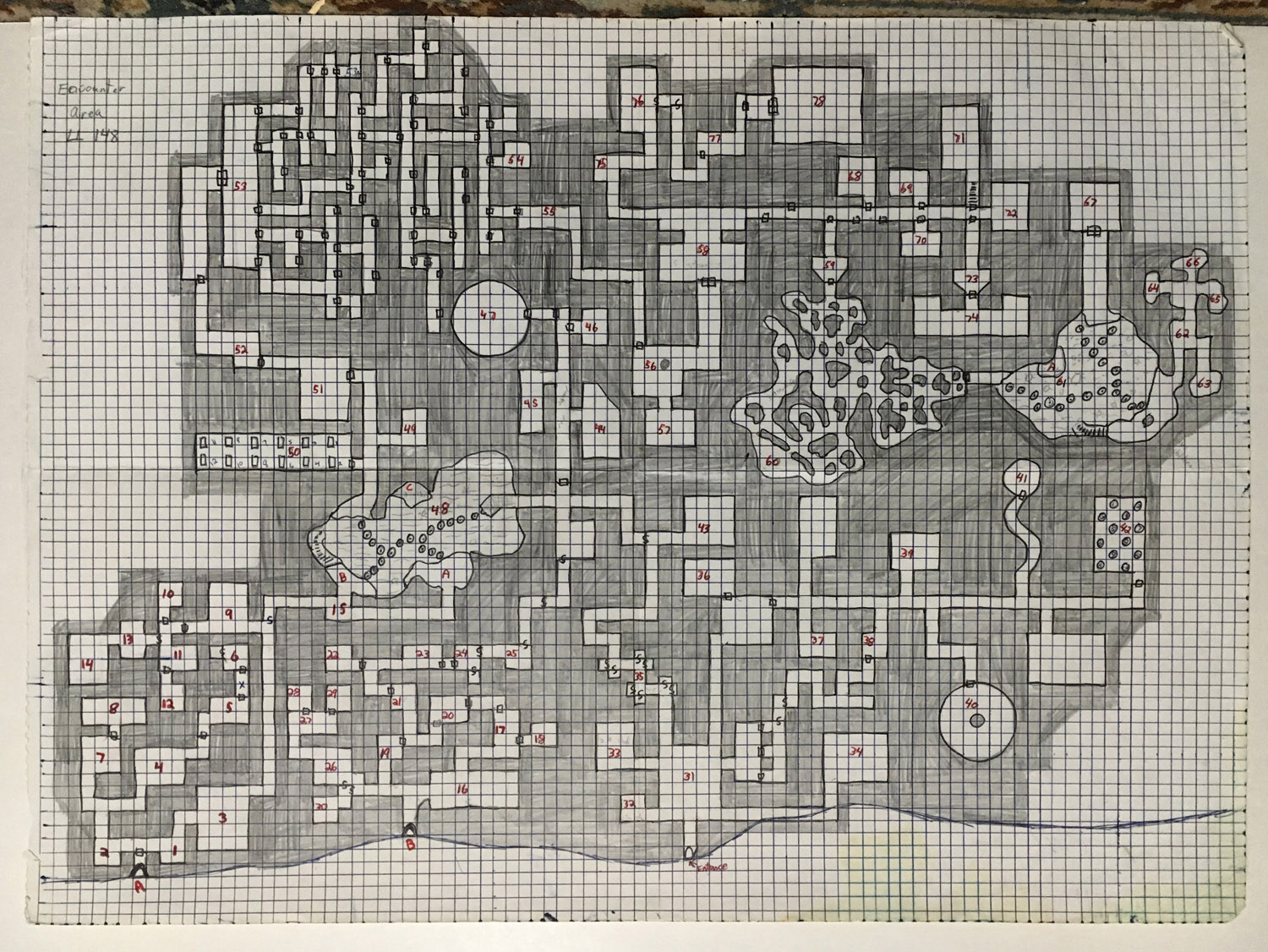 dungeons and dragons graph paper