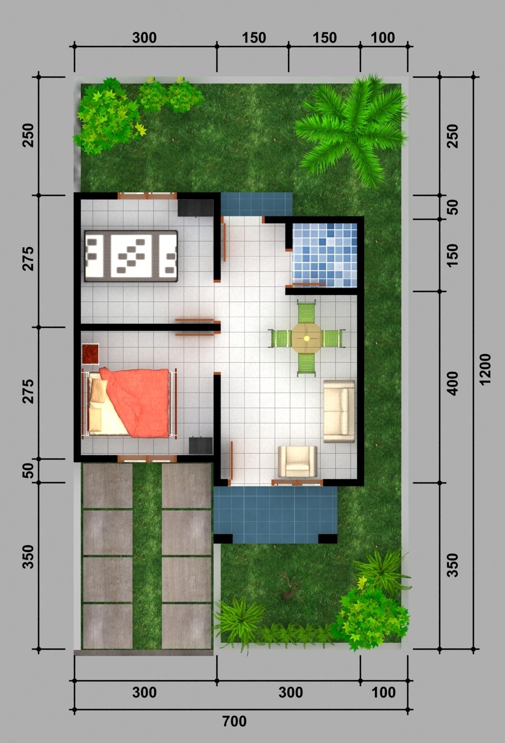 Gambar Denah Rumah Type 21 - Rumah Minimalis