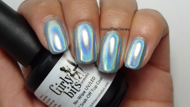 Girly Bits | No-Wipe UV/LED Top Coat & Ultra Holographic Powder