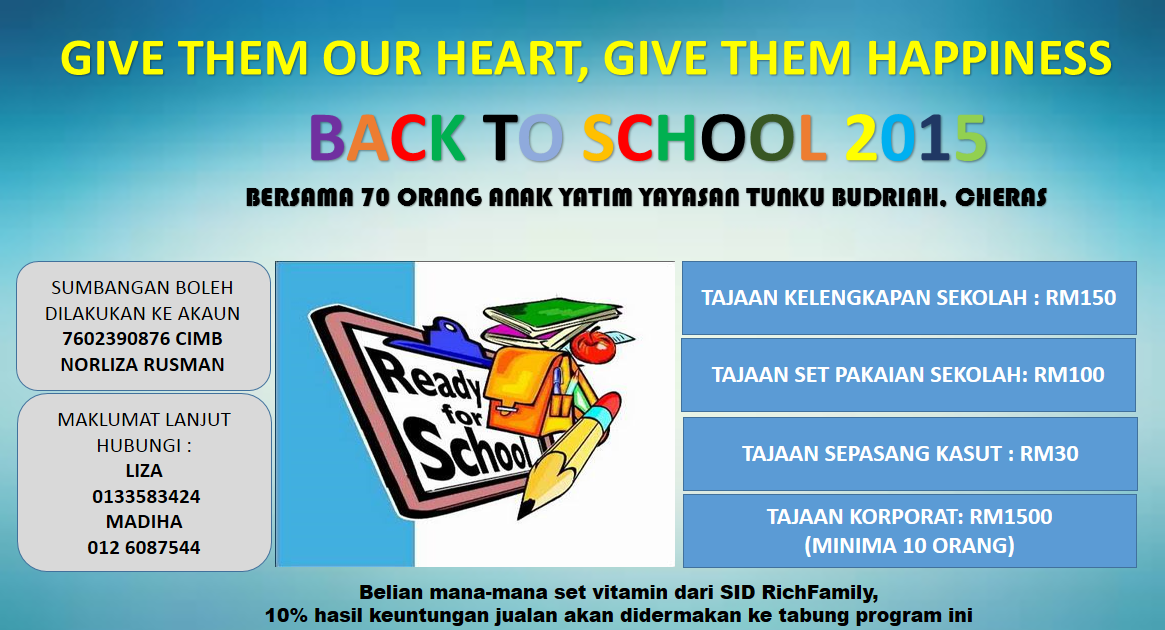JOM AMAL : BACK TO SCHOOL 2015