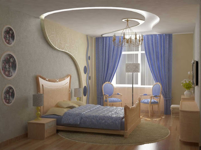 classy vinyl and gypsum pop design for ceiling with tradition furniture and lilac curtains with laminated floor