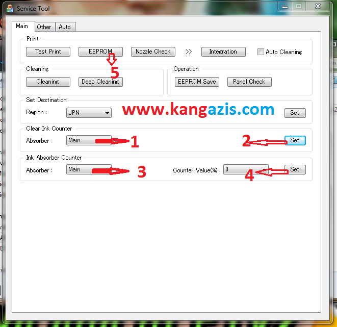 Cara Reset Canon MP237