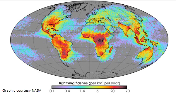 MWN Blog Severe Weather Awareness Lightning Safety - Lightning map us